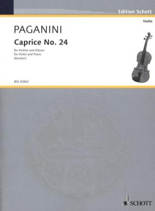 Paganini Niccolò / Kreisler Fritz - Caprice n° 24 - Partition - di-arezzo.fr