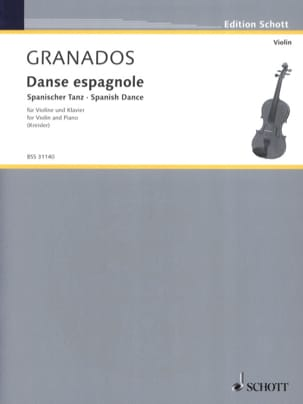 Enrique GRANADOS - Spanish dance - Sheet Music - di-arezzo.co.uk