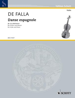 Falla Manuel de / Kreisler Fritz - Spanish dance of La vida breve - Sheet Music - di-arezzo.co.uk