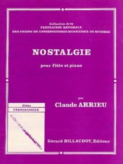 Nostalgie Claude Arrieu Partition Flûte traversière - laflutedepan