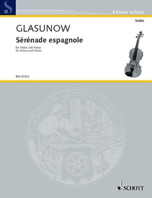 Alexandre Glazounov - Spanish Serenade Kreisler - Sheet Music - di-arezzo.co.uk