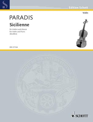 Sicilienne - Violine Maria Theresia von Paradis Partition laflutedepan