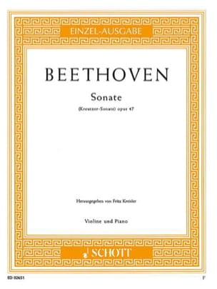 BEETHOVEN - Sonate op. 47 Kreutzer-Sonate - Partition - di-arezzo.fr