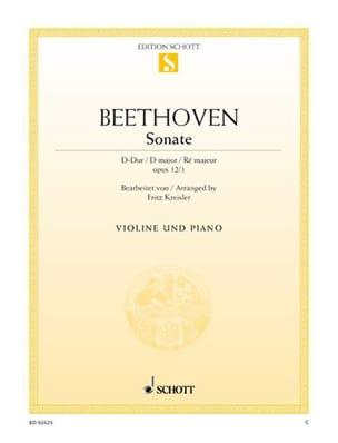 Sonate D-Dur op. 12 n° 1 - BEETHOVEN - Partition - laflutedepan.com