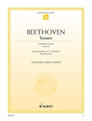 BEETHOVEN - Sonate op. 24 F-Dur Frühlings-Sonate - Partition - di-arezzo.fr