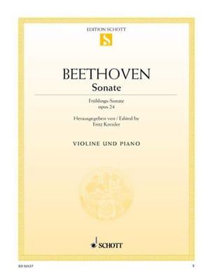 Ludwig van Beethoven - Sonate op. 24 F-Dur (Frühlings-Sonate) - Partition - di-arezzo.fr