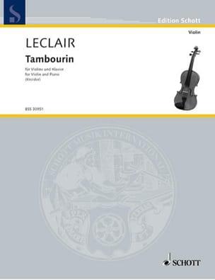 Leclair Jean-Marie / Kreisler Fritz - Tambourine - Partition - di-arezzo.co.uk