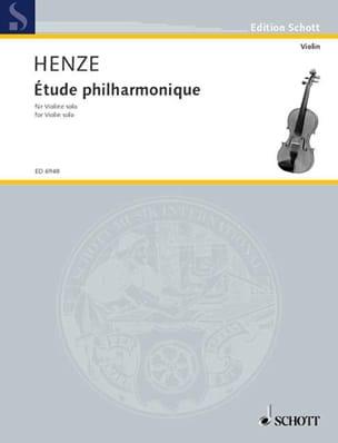 Etude philharmonique - Hans Werner Henze - laflutedepan.com