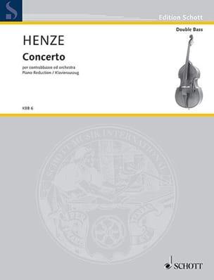 Hans Werner Henze - Concerto pour contrebasse - Partition - di-arezzo.fr