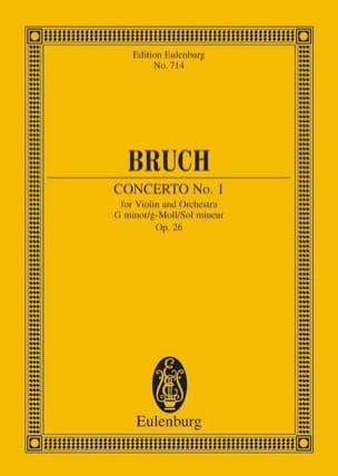 Max Bruch - Concerto Pour Violon N°1 en Sol Min Op. 26 - Partition - di-arezzo.fr