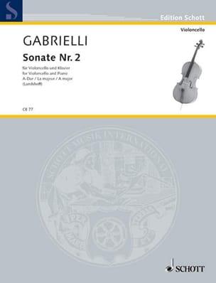 Sonate n° 2 A-Dur - Domenico Gabrielli - Partition - laflutedepan.com