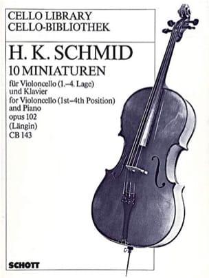 Heinrich Kaspar Schmid - 10 Miniaturen op. 102 - Partition - di-arezzo.fr