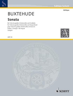 Dietrich Buxtehude - Sonata D-Dur - Viola da Gamba - Sheet Music - di-arezzo.com