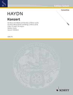 Klavier-Konzert F-Dur Hob. 18:3 - Partitur - HAYDN - laflutedepan.com