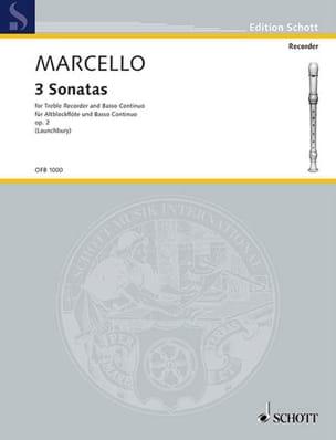 Benedetto Marcello - 3 Sonatas - Altblockflöte u. Bc - Partition - di-arezzo.fr