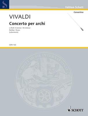 Concerto e-moll per archi, RV 133 - P 113 - Partitur - laflutedepan.com