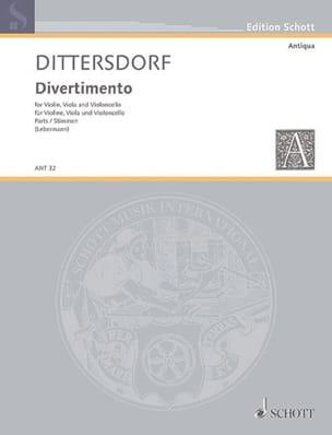 Carl Ditters von Dittersdorf - Divertimento –Stimmen - Partition - di-arezzo.fr