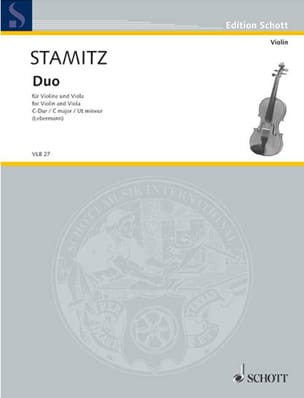 Duo C-Dur - Violine und Viola STAMITZ Partition 0 - laflutedepan