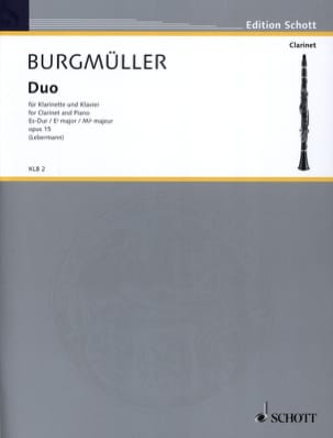 Duo Es-Dur op. 15 Norbert Burgmüller Partition laflutedepan