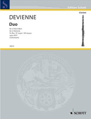 Duo op. 69 n° 3 Es-Dur -2 Klarinetten - DEVIENNE - laflutedepan.com
