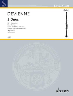 2 Duos op. 69 1-2 B-Dur / g-moll – 2 Klarinetten - laflutedepan.com