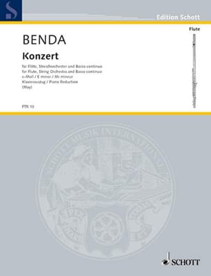 Franz Benda - Flöten-Konzert e-moll - Flöte Klavier - Partition - di-arezzo.co.uk