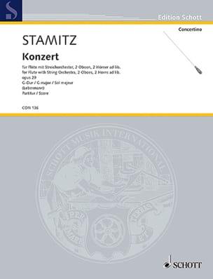 Carl Stamitz - Flöten-Konzert G-Dur op. 29 - Partitur - Partition - di-arezzo.fr