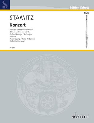 Carl Stamitz - concerto in G major Op 29 flute and piano - Sheet Music - di-arezzo.co.uk