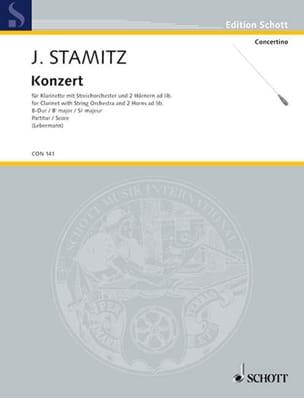 Johann Stamitz - Konzert für Klarinette B-Dur – Partitur - Partition - di-arezzo.fr
