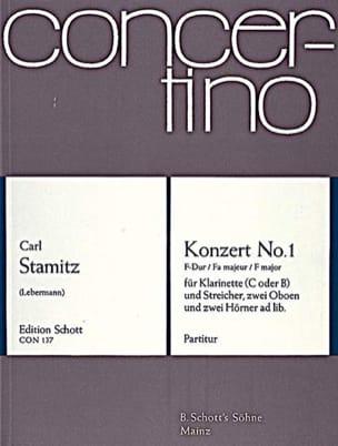 Klarinetten-Konzert Nr. 1 F-Dur - Partitur - laflutedepan.com