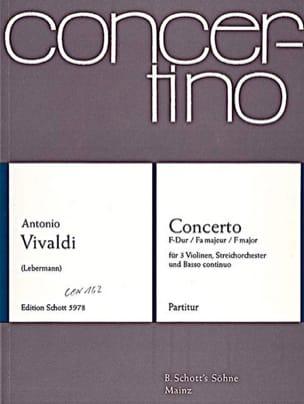 VIVALDI - Concerto En Fa Maj. F. 1 N° 34 - Partition - di-arezzo.fr