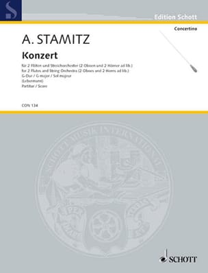 Anton Stamitz - Konzert for 2 Flöten in G-Dur - Partitur - Sheet Music - di-arezzo.co.uk