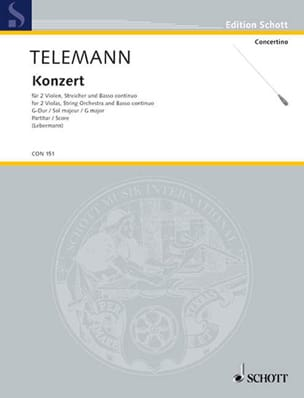 TELEMANN - Concerto for 2 Altos in G Major - Sheet Music - di-arezzo.co.uk