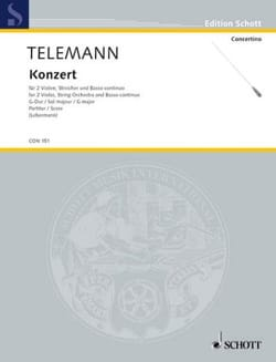 TELEMANN - Konzert G-Dur Sol M. - Material - Sheet Music - di-arezzo.co.uk