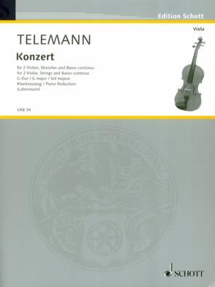 Georg Philipp Telemann - Konzert G-Dur –2 Violen Klavier - Partition - di-arezzo.fr
