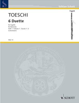 Carl Joseph Toeschi - 6 Duette für Fagotte – Bd. 1 - Partition - di-arezzo.fr
