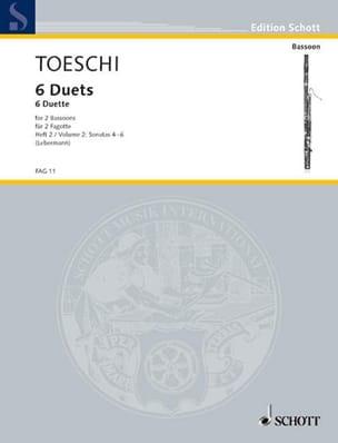 Carl Joseph Toeschi - 6 Duette für Fagotte - Bd. 2 - Partition - di-arezzo.fr