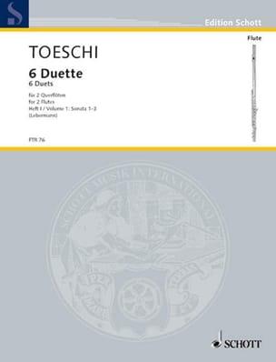 Carl Joseph Toeschi - 6 Duette (Heft 1) – 2 Flöten - Partition - di-arezzo.fr