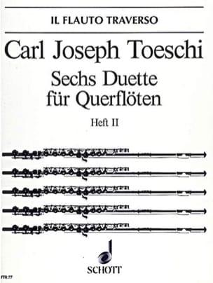 6 Duette Heft 2 - 2 Flöten - Carl Joseph Toeschi - laflutedepan.com