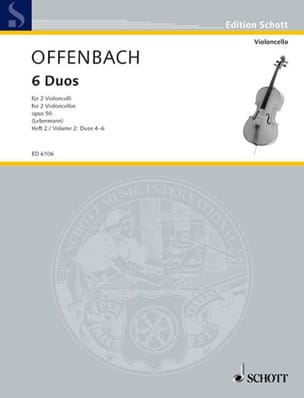 Jacques Offenbach - 6 Duos op. 50, Heft 2 4-6 - Sheet Music - di-arezzo.co.uk