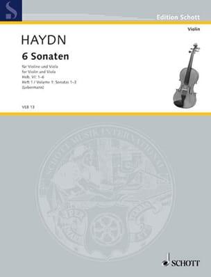 HAYDN - 6 Sonaten Hob. 6 - Heft 1 : n° 1-3 - Partition - di-arezzo.fr