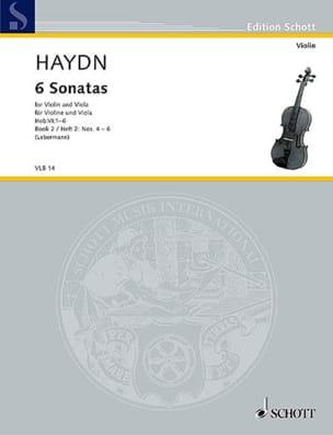 6 Sonatas Hob. 6 - Heft 2 : n° 4-6 - HAYDN - laflutedepan.com