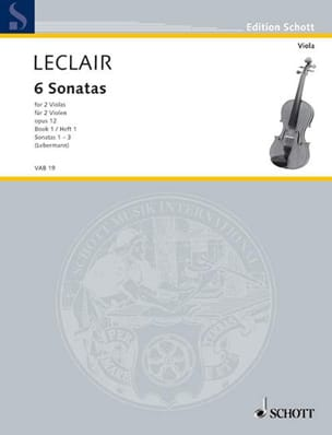 6 Sonatas op. 12, Volume 1 - 2 Violas LECLAIR Partition laflutedepan