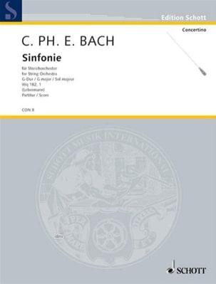 Carl Philipp Emanuel Bach - Sinfonie G-Dur (Wq 182/1) (1773) - Conducteur - Partition - di-arezzo.fr