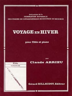 Voyage en hiver Claude Arrieu Partition laflutedepan