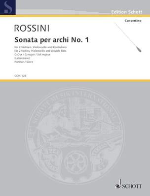 Gioacchino Rossini - Sonata per archi n° 1 G-Dur - Partitur - Partition - di-arezzo.fr
