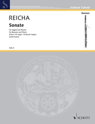 Anton Reicha - Sonate B-Dur op. posth – Fagott Klavier - Partition - di-arezzo.fr