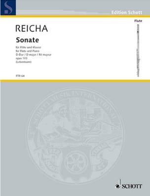 Anton Reicha - Sonate D-Dur op. 103 – Flöte Klavier - Partition - di-arezzo.fr