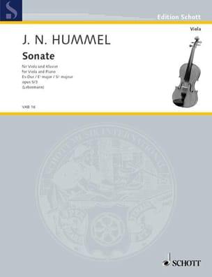 HUMMEL - Sonate Es-Dur, op. 5 n ° 3 - Sheet Music - di-arezzo.co.uk