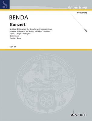 Georg Benda - Viola-Konzert F-Dur - Partition - di-arezzo.fr
